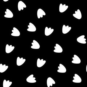 Dinosaur Footprints - black ground