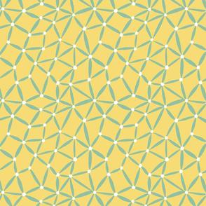ditsy stars yellow