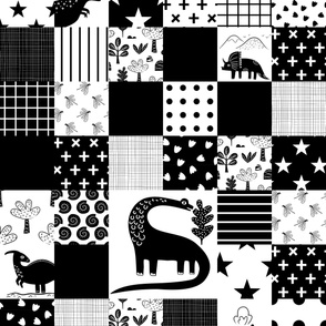 Dinosaur cheater quilt