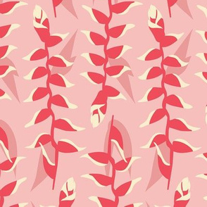 Heliconia Flower - light pink