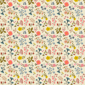 WOODLAND FLOWERS cream 6""