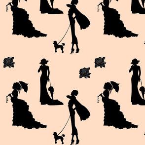 Timeless Fashion Ladies - orange beige & black