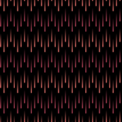 Cascading Chevron of Coral and Chevron Stripes on Black Background