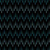 Cascading Chevron of Teal Stripes on Black Background