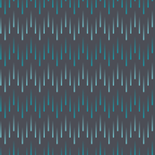 Cascading Chevron of Teal Stripes on Charcoal Grey Background