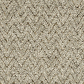 Dusty Sand and Brown Velvet Chevron