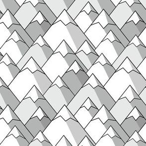 Mountain Peaks in Grey