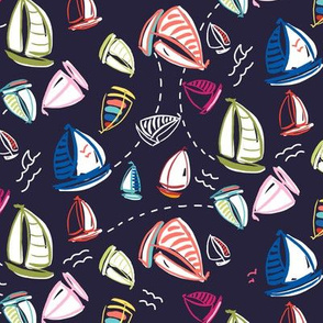 ditzy summer sailboats - eclipse