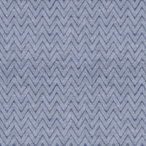 Dusty Denim and Blue Velvet Chevron