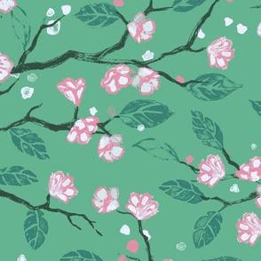 Painted Flowers [Teal]