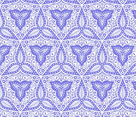 Hiding Mice - Periwinkle fabric by siya on Spoonflower - custom fabric