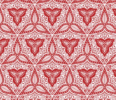 Hiding Mice - Red fabric by siya on Spoonflower - custom fabric