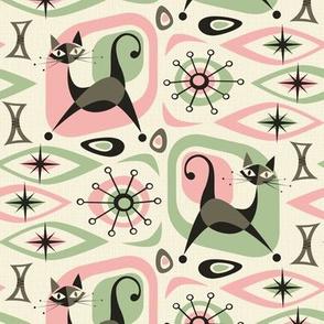 Mid Century Cat Abstract - P&G