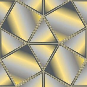 Shiny Effect Gray and Yellow Tesselation