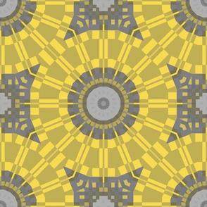 Yellow and Gray Kaleidoscope
