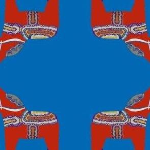 Dala Horses Blue