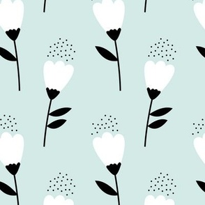 Romantic cotton balls flowers boho gipsy summer blossom mint green JUMBO