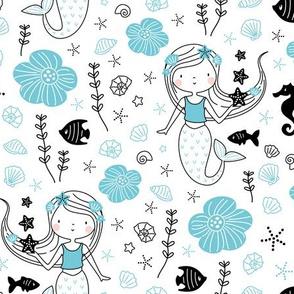 little mermaid blue