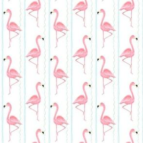 flamingo stripe white