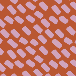 burnt orange and petal pink dash SMALL