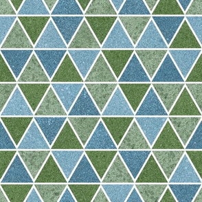 textured triangles - blue and green