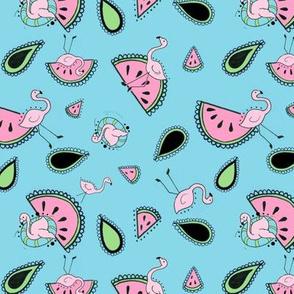 Flamingo Watermelon Ditsy
