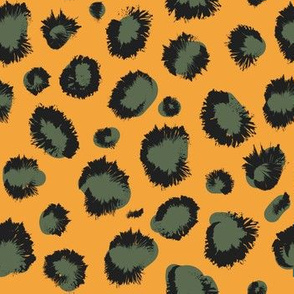 Olive Mustard cheetah