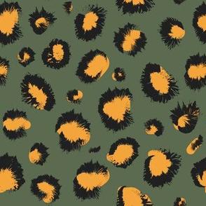 Mustard olive cheetah