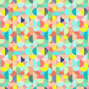 geometric pastel circles