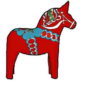 Dala Horses Red