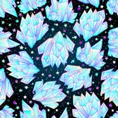 Crystal healing starry night