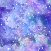 Starry purple nebula