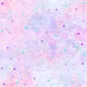 Starry pink purple nebula