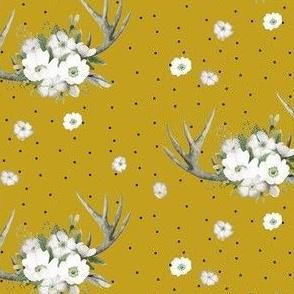 "4"" Rustic Lodge Florals // Gold Nugget"