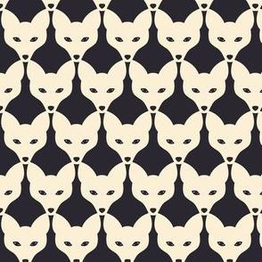 White fox - animal print