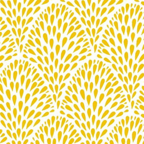 Drops // mustard on white