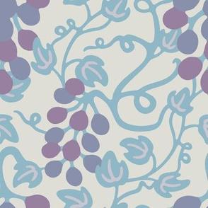Grapes Wine Vineyard Purple Blue Mauve