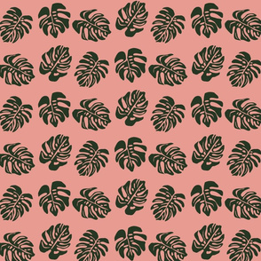 Tribal Monstera Pink