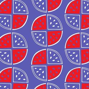 Watermelon pattern_lilac