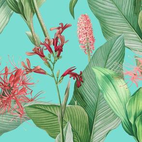 Botanist's Garden on Turquoise 150