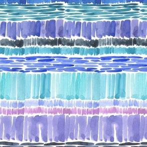 Watercolor Hatches - Blue + Purple