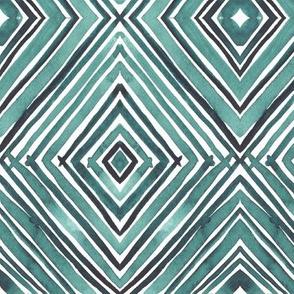 Watercolor Diamonds - Teal
