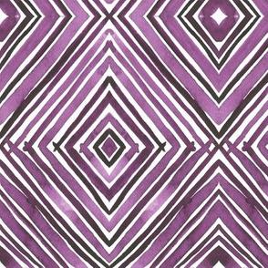 Watercolor Diamond - Violet