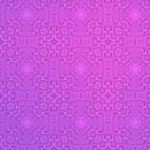 Fractal Lace, Violet-Pink Ombre