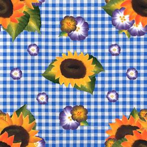 Sunflower Blue Gingham