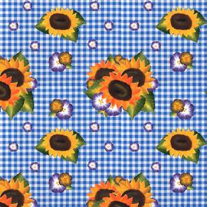 Sunflower Blue Gingham_medium scale