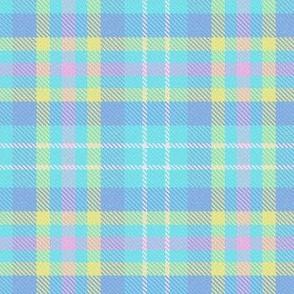 Tartan - Blue Yellow Pink