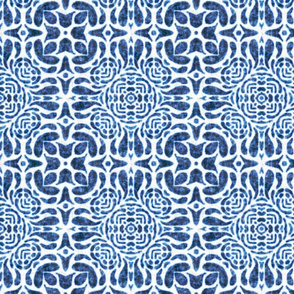 Hallie tile, Blue, medium
