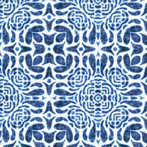 Hallie tile, Blue, large