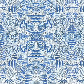 blue dreams watercolour large scale